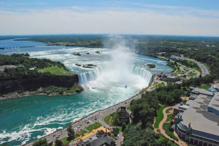View from Skylon Tower Niagara Falls 2009